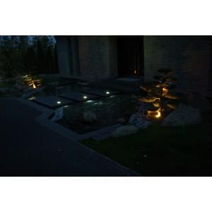 Entrance garden at night