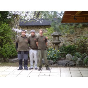 Japanese garden works in Hungary